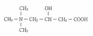 L-カルニチンの化学構造式
