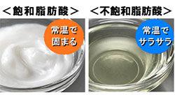 飽和脂肪酸と不飽和脂肪酸の違い