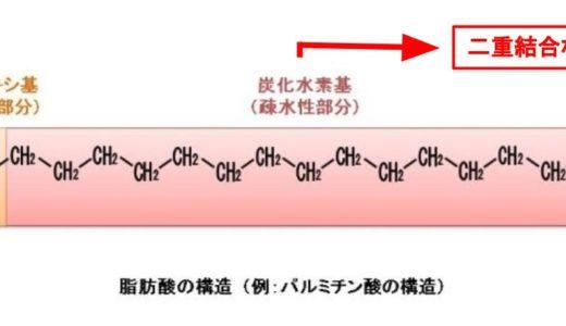 飽和脂肪酸と不飽和脂肪酸の違いをわかりやすく解説します