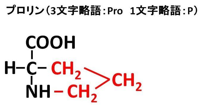 プロリンの構造式