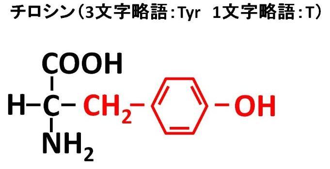 チロシンの構造式