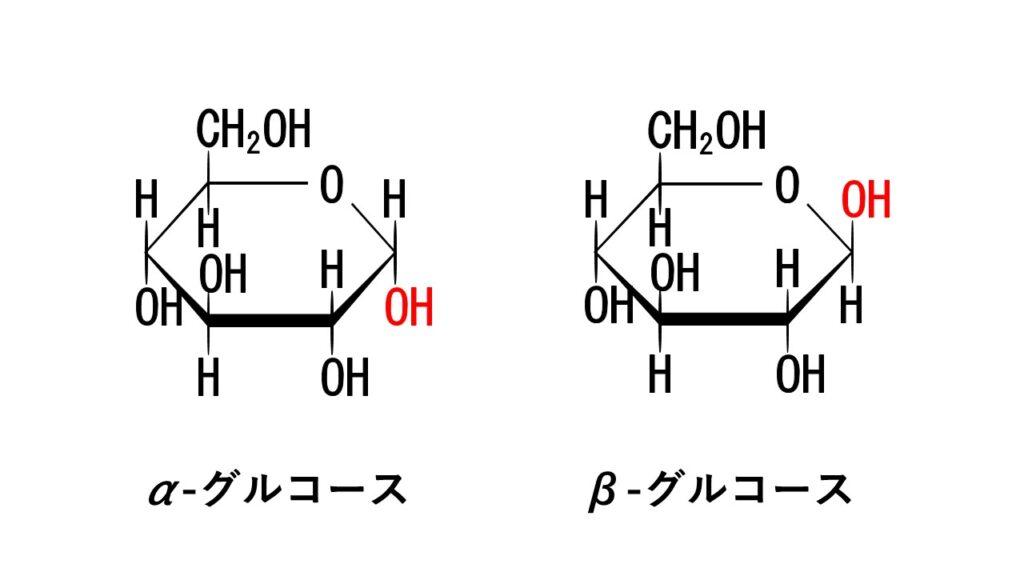 α-グルコースとβ-グルコース