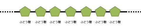 でんぷんの簡単な構造