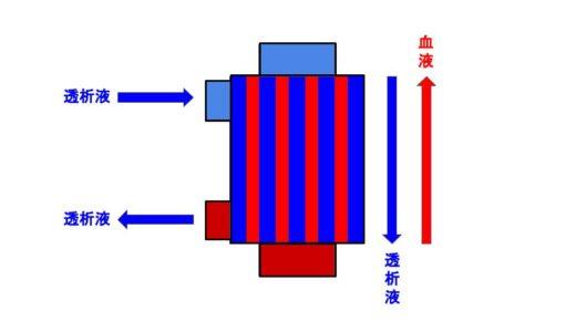 透析中のダイアライザの赤と青の向きはどちらが正解?
