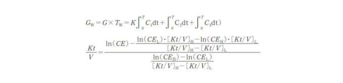 新里(shinzato)のkt/V計算方法